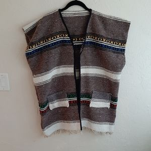 Vintage '90s Woven Mexican Blanket Vest